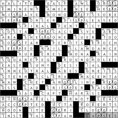 0412-09 New York Times Crossword Answers 12 Apr 09