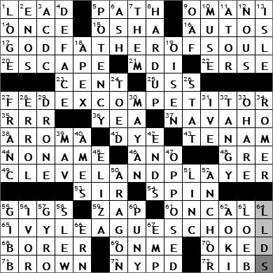 0423-09 New York Times Crossword Answers 23 Apr 09