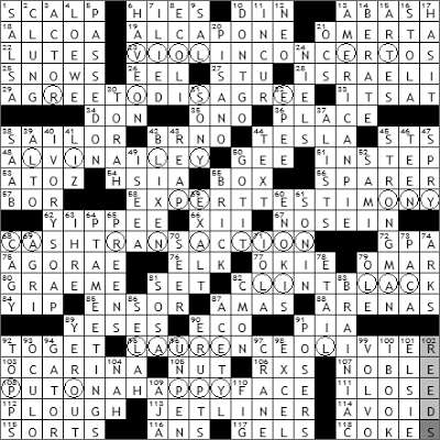 0503-09 New York Times Crossword Answers 3 May 09