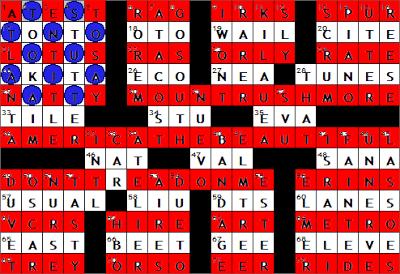 0611-09 New York Times Crossword Answers 11 Jun 09