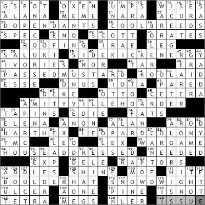0614-09 New York Times Crossword Answers 14 Jun 09