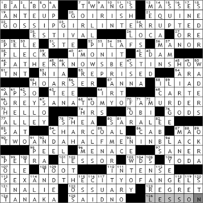 0809-09 New York Times Crossword Answers 9 Aug 09