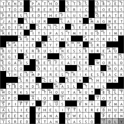 0823-09 New York Times Crossword Answers 23 Aug 09