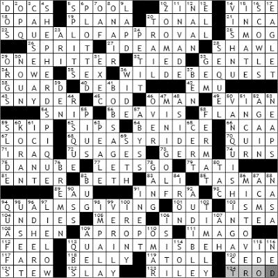 1129-09 New York Times Crossword Answers 29 Nov 09