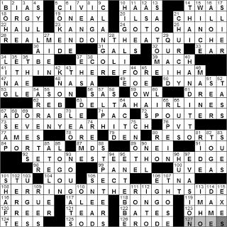 1121 10 New York Times Crossword Answers 21 Nov 10 Sunday Nyxcrossword Com