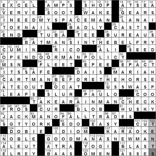 1226 10 New York Times Crossword Answers 26 Dec 10 Sunday Nyxcrossword Com