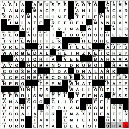 0729 12 New York Times Crossword Answers 29 Jul 12 Sunday Nyxcrossword Com