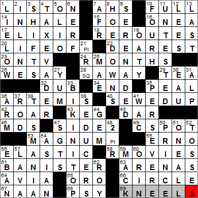 0327 14 New York Times Crossword Answers 27 Mar 14 Thursday Nyxcrossword Com
