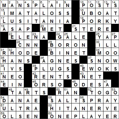 0626-15 New York Times Crossword Answers 26 Jun 15, Friday