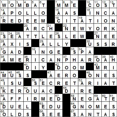 0609-15 New York Times Crossword Answers 9 Jun 15, Tuesday