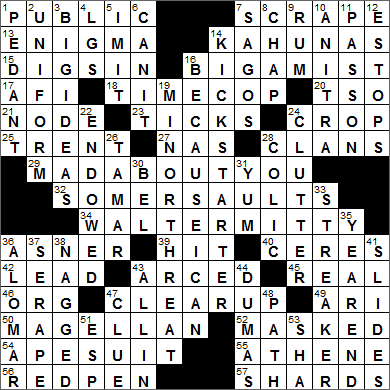 0717-15 New York Times Crossword Answers 17 Jul 15, Friday