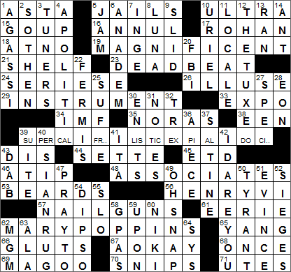 0723-15 New York Times Crossword Answers 23 Jul 15, Thursday