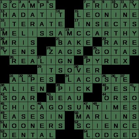1209 16 New York Times Crossword Answers 9 Dec 16 Friday Nyxcrossword Com
