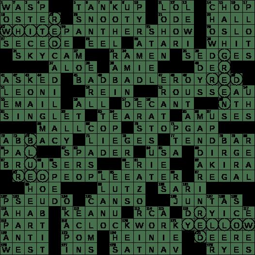 0326 17 New York Times Crossword Answers 26 Mar 17 Sunday Nyxcrossword Com