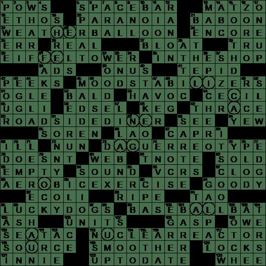 0305 17 New York Times Crossword Answers 5 Mar 17 Sunday Nyxcrossword Com