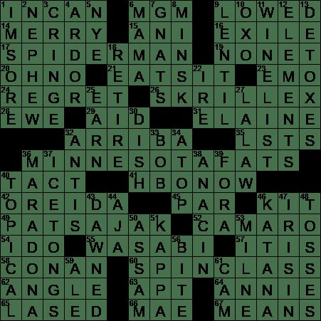 0816 17 New York Times Crossword Answers 16 Aug 17 Wednesday Nyxcrossword Com