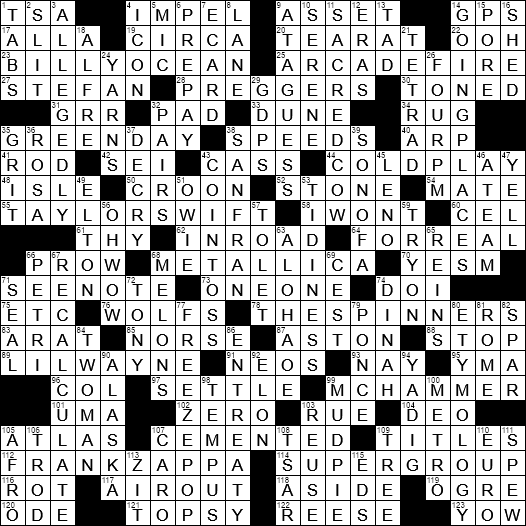Kennedy and Reagan crossword clue