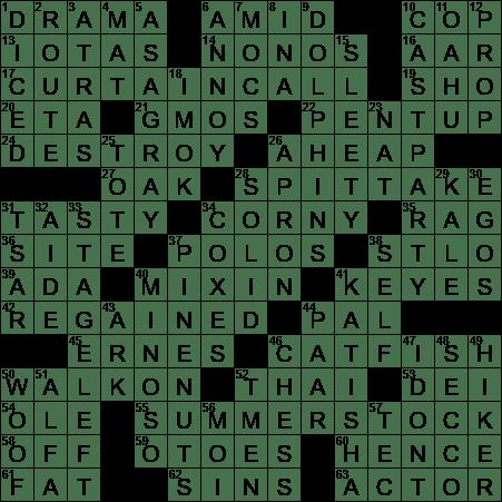 1018 17 Ny Times Crossword Answers 18 Oct 2017 Wednesday Nyxcrossword Com