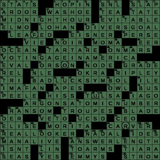 1119 17 Ny Times Crossword Answers 19 Nov 2017 Sunday Nyxcrossword Com