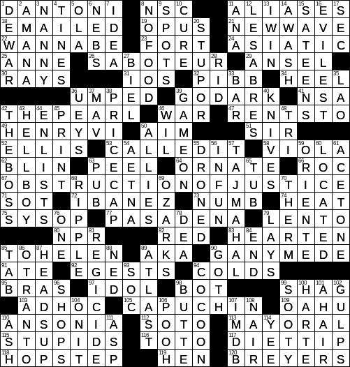 0114 18 Ny Times Crossword Answers 14 Jan 2018 Sunday Nyxcrossword Com