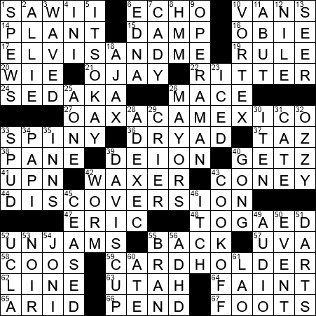 0212 18 Ny Times Crossword Answers 12 Feb 2018 Monday Nyxcrossword Com