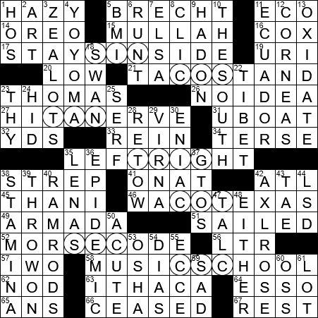 0228-18 NY Times Crossword Answers 28 Feb 2018, Wednesday