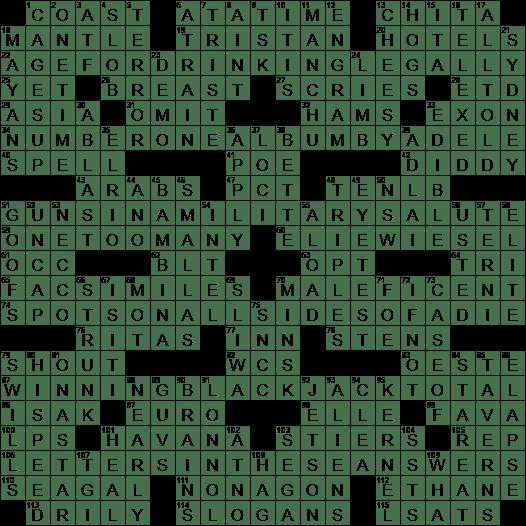 0527 18 Ny Times Crossword Answers 27 May 2018 Sunday Nyxcrossword Com