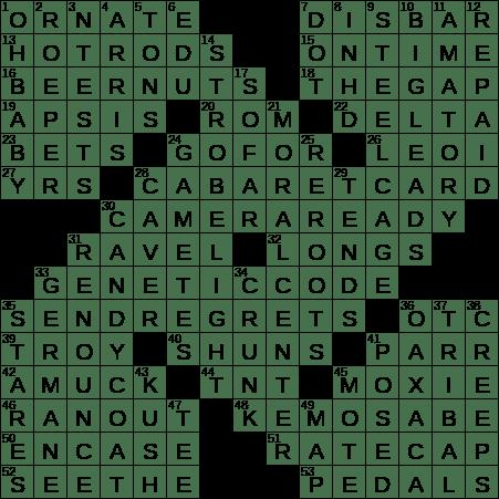 0714-18 NY Times Crossword Answers 14 Jul 2018, Saturday