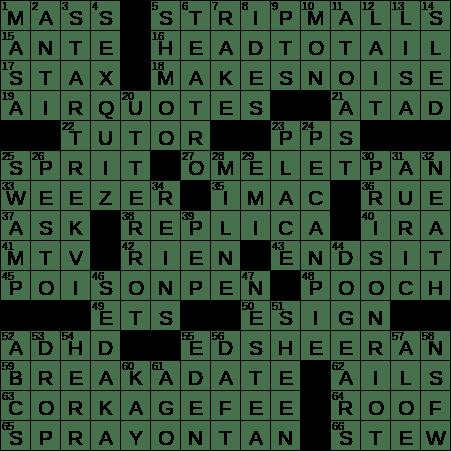 0803 18 Ny Times Crossword 3 Aug 18 Friday Nyxcrossword Com
