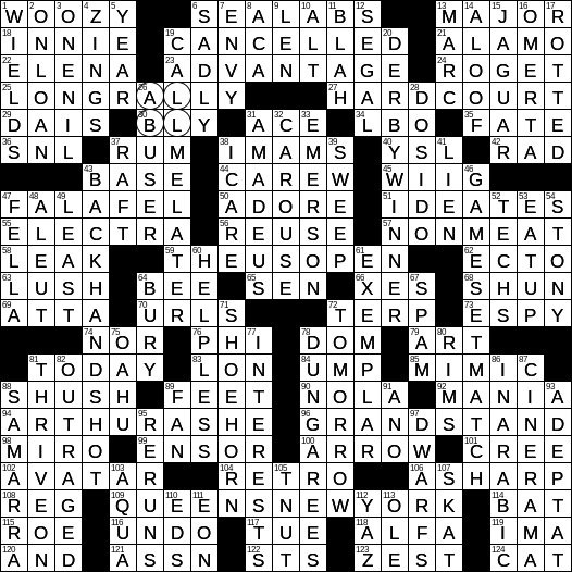 0826 18 Ny Times Crossword 26 Aug 18 Sunday Nyxcrossword Com