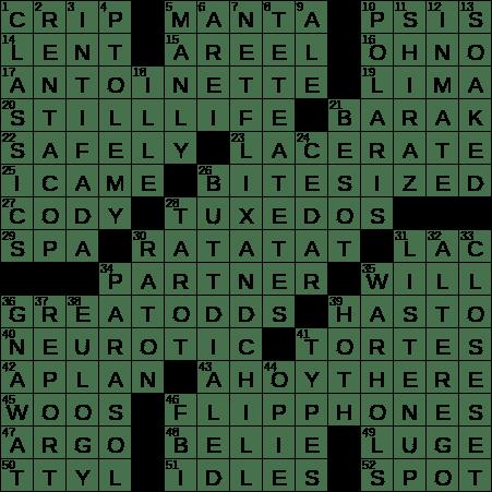 1020 18 Ny Times Crossword 20 Oct 18 Saturday Nyxcrossword Com