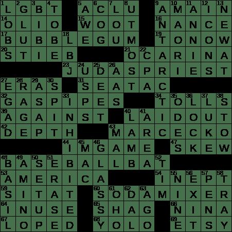 1004 18 Ny Times Crossword 4 Oct 18 Thursday Nyxcrossword Com