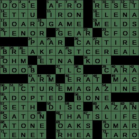 1016 18 Ny Times Crossword 16 Oct 18 Tuesday Nyxcrossword Com