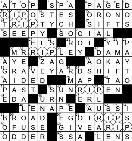 1030 18 Ny Times Crossword 30 Oct 18 Tuesday Nyxcrossword Com
