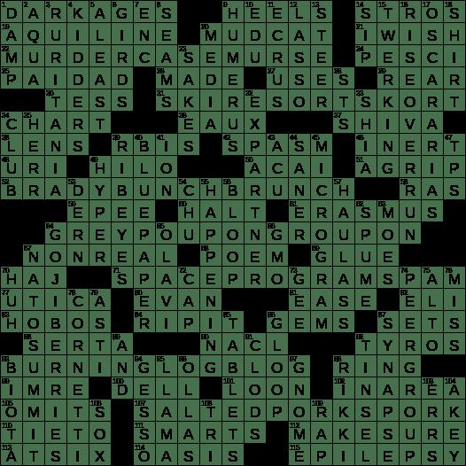 1118 18 Ny Times Crossword 18 Nov 18 Sunday Nyxcrossword Com