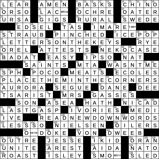 Nyxcrossword Com Page 680 Of 4252 Answers To The New York Times Crossword