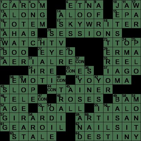 1227 18 Ny Times Crossword 27 Dec 18 Thursday Nyxcrossword Com