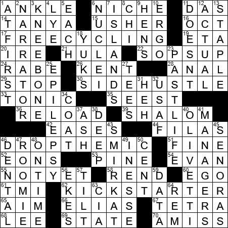 0128 19 Ny Times Crossword 28 Jan 19 Monday Nyxcrossword Com