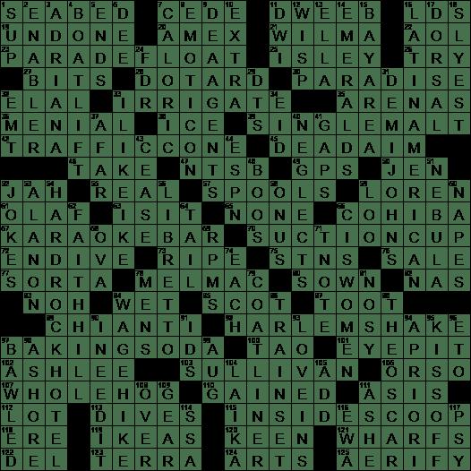 0113 19 Ny Times Crossword 13 Jan 19 Sunday Nyxcrossword Com