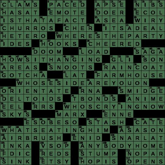 0120 19 Ny Times Crossword 20 Jan 19 Sunday Nyxcrossword Com