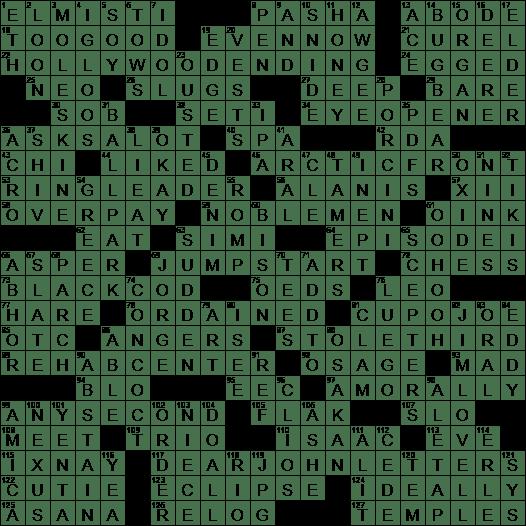 0106-19 NY Times Crossword 6 Jan 19, Sunday - NYXCrossword com