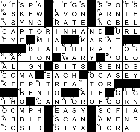 0110 19 Ny Times Crossword 10 Jan 19 Thursday Nyxcrossword Com