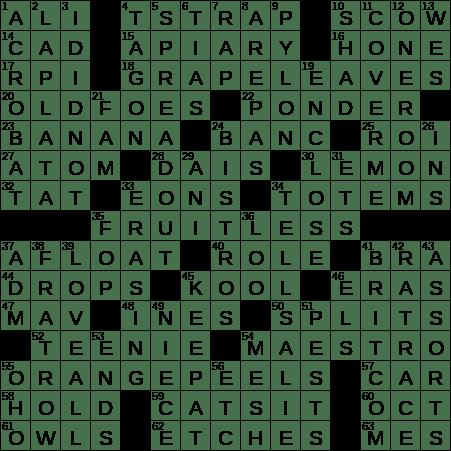 0130-19 NY Times Crossword 30 Jan 19, Wednesday ...