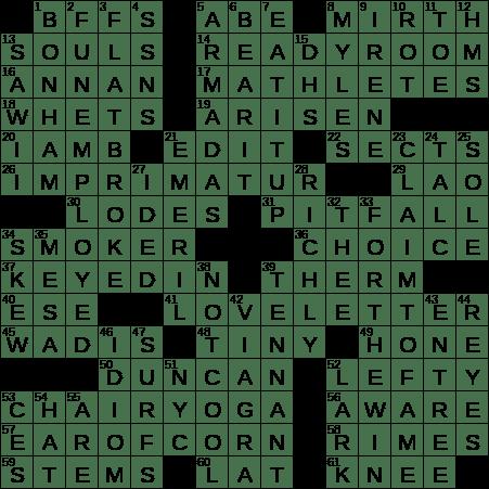 0208 19 Ny Times Crossword 8 Feb 19 Friday Nyxcrossword Com