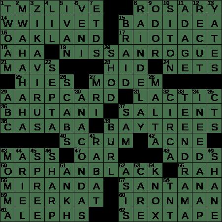 Still the same crossword clue