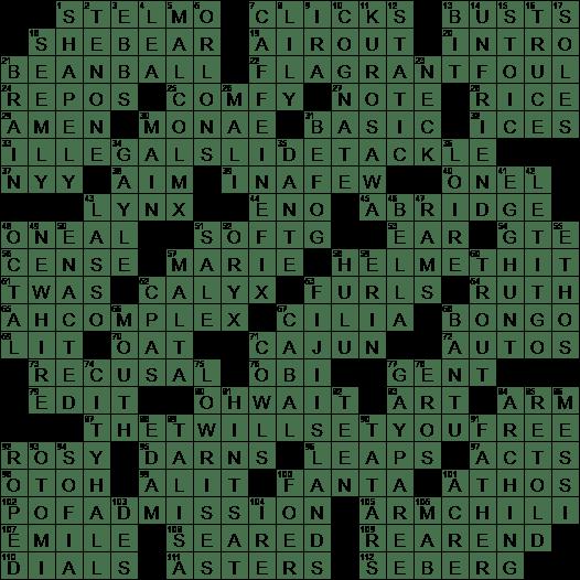 0203 19 Ny Times Crossword 3 Feb 19 Sunday Nyxcrossword Com
