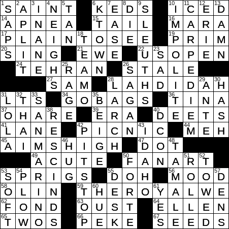 0318-19 NY Times Crossword 18 Mar 19, Monday - NYXCrossword com