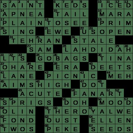 0318 19 Ny Times Crossword 18 Mar 19 Monday Nyxcrossword Com