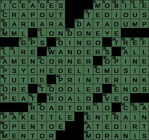 0316 19 Ny Times Crossword 16 Mar 19 Saturday Nyxcrossword Com