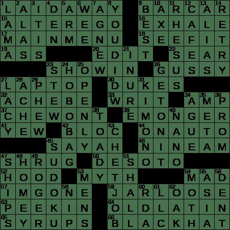 0314-19 NY Times Crossword 14 Mar 19
